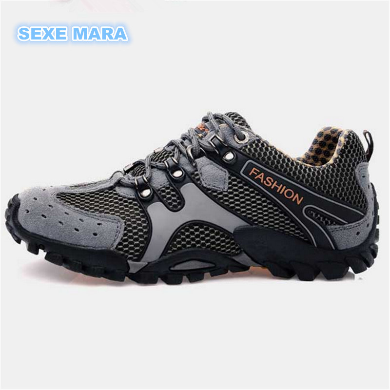 NEW 2017 Outdoor Sport Shoes men and women Sneakers Men Running shoes Leather Breathable mesh non-slip Off-road Walking Jogging somix brand running shoes new arrivals couple sport outdoor jogging damping men running shoes hard wearing non slip sneakers men