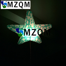 MZQM Free shipping 16 colors-changing inflatable star with LED light in