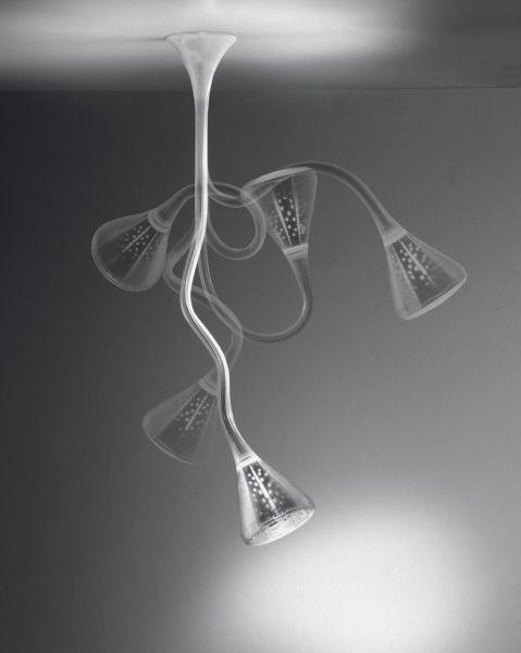 Современный минималистский трубы шланг верхнего света Гибкие Лотос глава живут кроватями лампа
