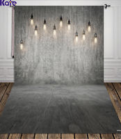 Photograph Background Gray Wall And Floor Wedding Photo Backdrops Dim Chandelier For Personal Photo WY00031
