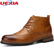New Arrival Fashion Work Formal Dress Business Party Boots Men Shoes Leather Motorcycle Military Boots Vintage Fashion Man Shoe