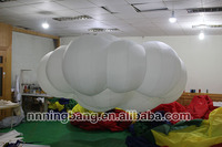 Free shipping 3m diameter inflatable cloud for party with LED lights