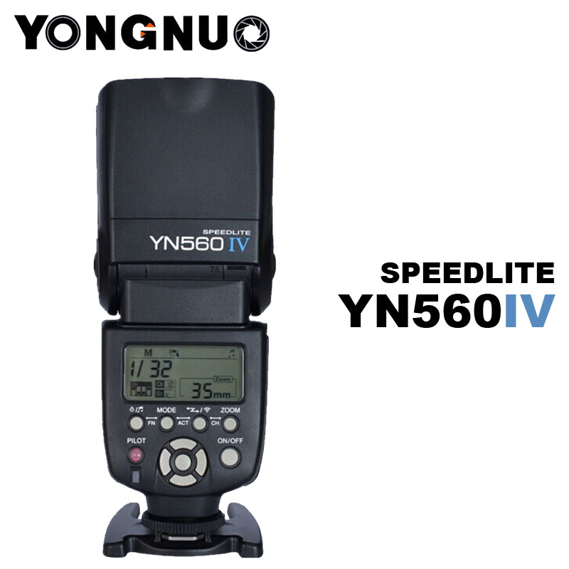 YONGNUO YN-560IV YN560 IV Flash Speedlite pour Nikon D700 D7200 D7100 D7000 D5300 D5200 D5100 D5000 D3100 D3200 D3000 D90 D80 D70