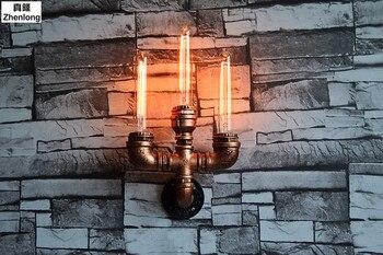 Żelaza Instrukcja Retro Wodociąg Kreatywne ściany światła Dla Domu Metalowej ścianie Lampa Oświetlenie Dekoracyjne Restauracji Supermarket Bar Cafe
