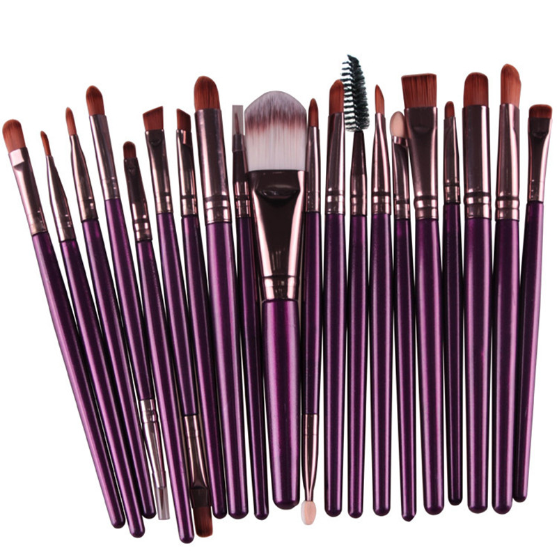 20 sztuk Pro Powder Brush Zestaw kosmetyczny Foundation Eyeshadow Lip Face Makeup Tool Women Make Up Brush Sets