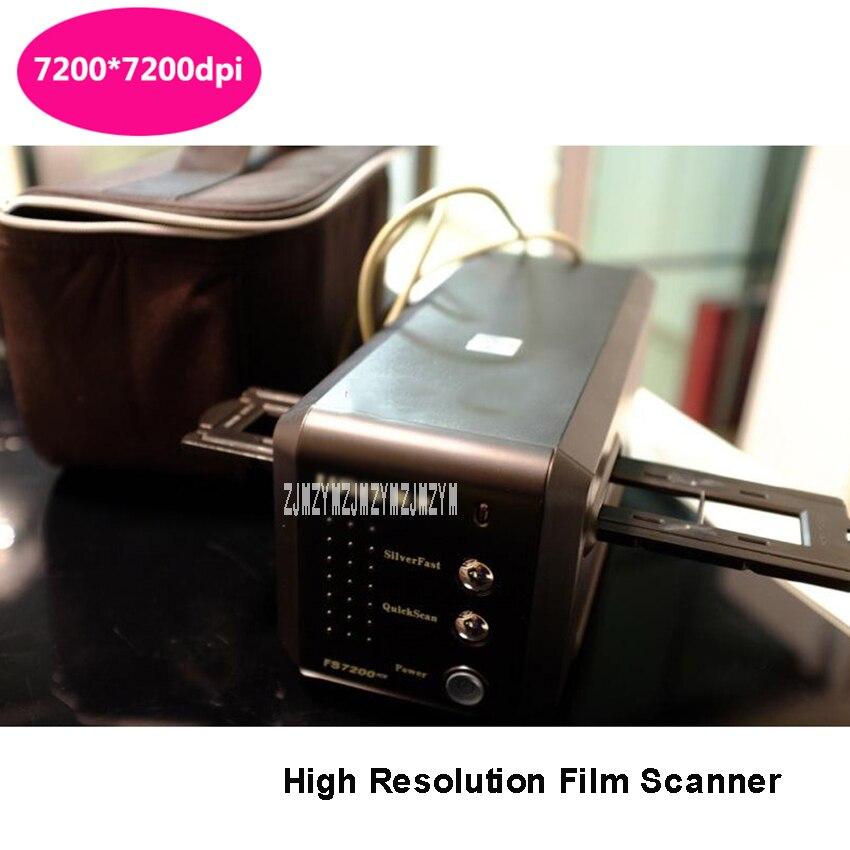 FS7200ICE Film Scanner de Diapositives Scanner 7200 dpi USB 135 Scanner de Film Négatif 24.3x35mm Plage de Balayage 24000 dpi image Résolution