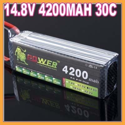 ФОТО 1pcs lion 14.8V 4200MAH 30C 4S max 60C battery packs lipo batteries akku bateria batterie for Walkera KDS