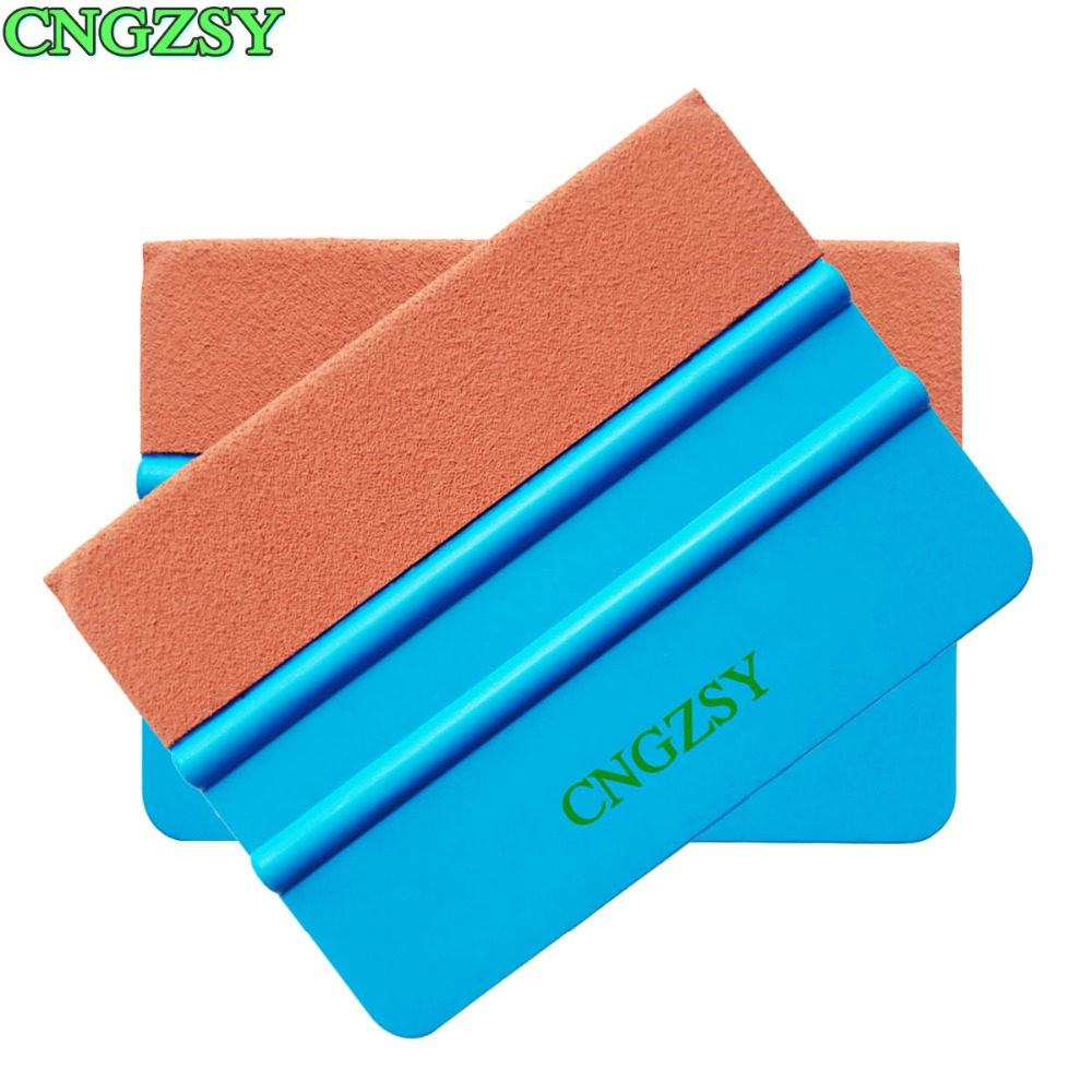 Car Wash & Maintenance Purposeful 2pcs Useful Blue Suede Scraper Water Squeegee Tint Tool For Car Auto Film For Window Cleaning Window Glass Decal Applicator 2a17 High Quality Goods