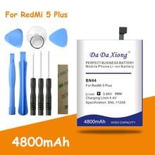 Free shipping BN44 Battery 4800mAh For Xiaomi Redmi 5 plus Battery Hongmi 5 Plus 5.99