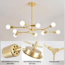 European Modern LED Chandelier Lighting Iron Chandeliers Lamp Ceiling Mounted Gold Black For Indoor Lighting 3/6/9 Lights ceiling lights mw light 696010708 lighting chandeliers lamp indoor suspension chandelier pendant