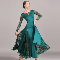 ballroom dress standard ballroom dance dress women waltz dress lace splicing Spanish dress dance wear ballroom practice wear