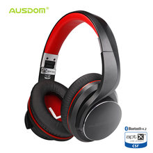 Ausdom AH3 aptX Low Latency Wireless Headphones Bluetooth 4.2 Over-Ear Foldable Bass Boosted Headset Lip Sync Sound for Gaming(China)