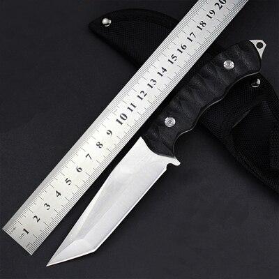 CHACHEKA 2 типа головы 5Cr15Mov Нержавеющая сталь фиксированным лезвием Прямой нож с нейлоновой оболочкой Открытый Охотничьи ножи инструменты для выживания - Цвет: NO1