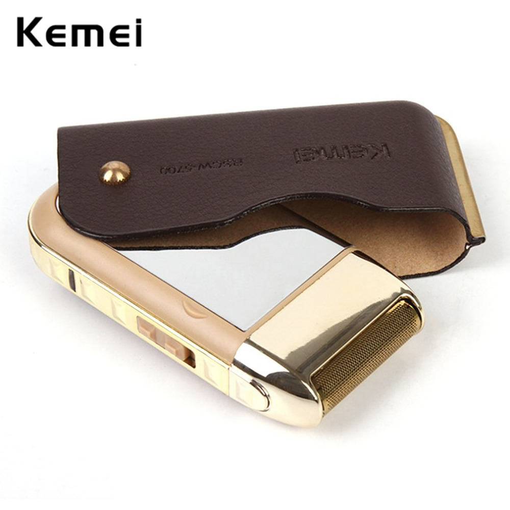 2017 New kemei Direct Sell Electric Rechargeable Shaver Beard Trimmer Electric Razor Personal Face Care Shaving Removal EU PLUG kairui rechargeable dual blade shaver razor w trimmer ac 220v