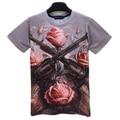 Famosa Banda de Rock Guns N Roses Camisa Do Logotipo T Cool 3D Curta Tee manga Da Camisa Unisex Gun E Rose Fãs Projeto Topos de Hip Hop Outfits