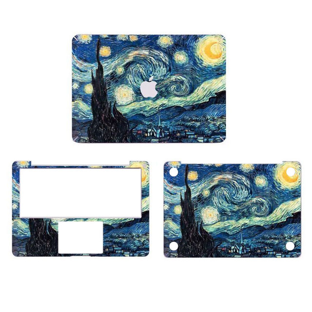 check out 53390 517bf US $23.99 |Starry Night Van Gogh Canvas Full Body Cover Laptop Decal  Stickers Case For Apple Macbook Air 11 11.6 inch Protective Skin-in Laptop  Skins ...