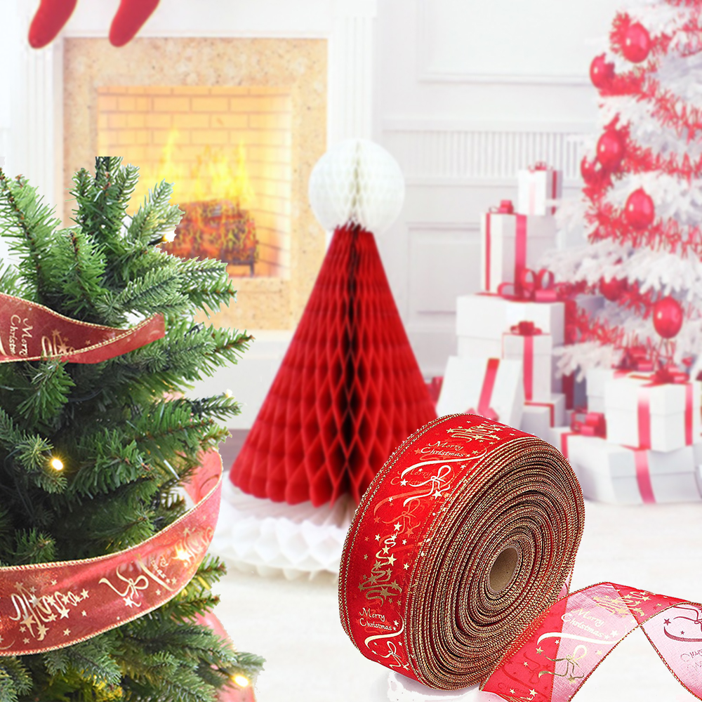 200cm Christmas Tree Ornament Decoration Ribbons Party Supply Xmas Bow Ribbon SS