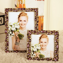 Fashion luxury crystal home decoration diamond photo frame soft