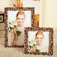 Fashion luxury crystal home decoration diamond photo frame decoration soft decoration photo frame