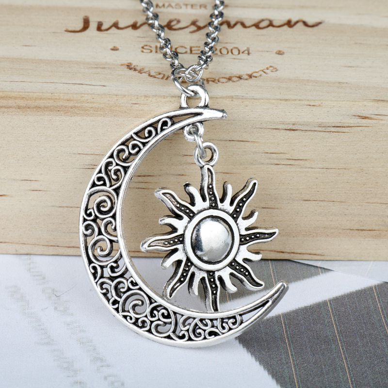 dongsheng jewelry Game of Thrones Necklace Moon of My Life Necklace Retro Sun and Star Pendants Necklaces