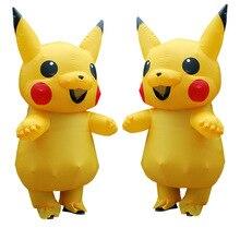 Carnival  kigurumi parents children Costume pokemon pikachu Inflatable Cosplay Costumes Halloween Christmas Funny Party Dress