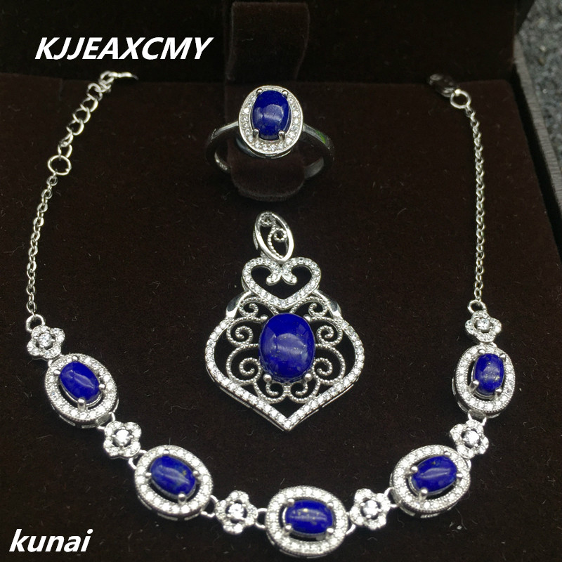 KJJEAXCMY Fine jewelry, Colorful jewelry, 925 silver inlaid lapis, womens set, simple and generous wholesaleKJJEAXCMY Fine jewelry, Colorful jewelry, 925 silver inlaid lapis, womens set, simple and generous wholesale