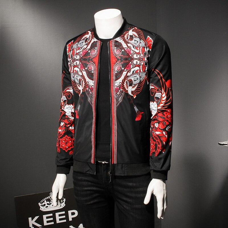 Mu Yuan Yang Men Zipper Windbreaker Jacket Male Casual Solid Color Overcoat Men Slim Fit Turn