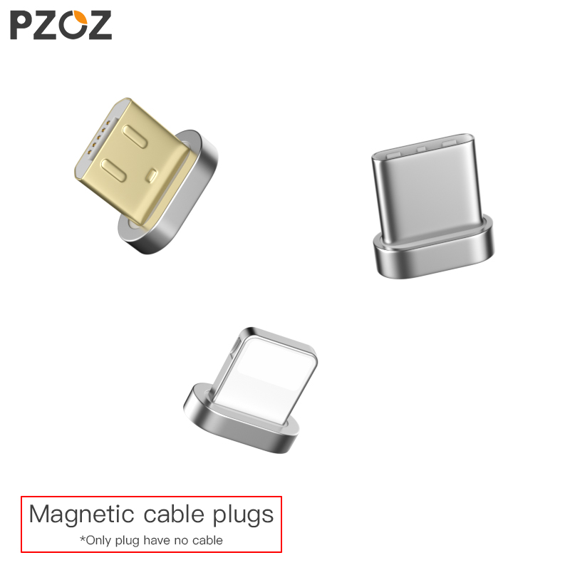 PZOZ Magnetic Cable plug Type C Micro USB C 8 pin Fast Charging Adapter Phone Microusb Magnet Charger cord plugs Storage Box bag(China)
