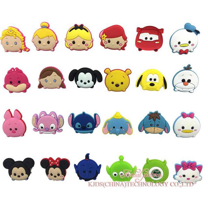 Single Sale 1pc Tsum Tsum PVC Shoe Charms Shoe Accessories DIY Shoe Decoration For Croc Jibz Kids Favor Kawaii Cute X-mas Gift