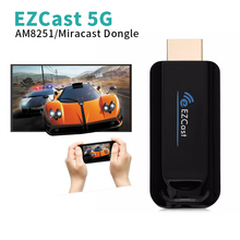 EZCast 5G/2.4G Wireless Display TV Dongle HDMI Receiver Air Mirroring High Speed Screen Mirrorring Support DLNA Miracast AirPlay