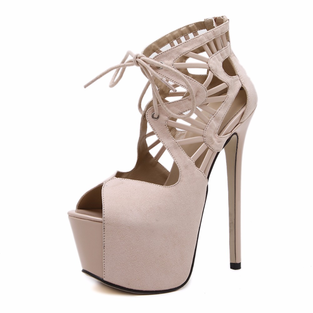 ФОТО New women pumps peep toe high heels sandals shoes woman party wedding dress platforms gladiator stiletto cut-outs lace up shoes