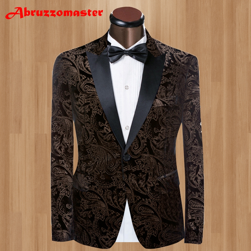 2 Style Velvet Man Blazers Wedding Suit For Man Ternos Masculino Slim Fit Mens Suits Man 2020 Suit Jackets 1 Man Blazer