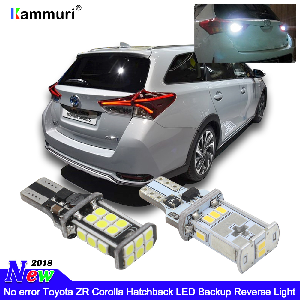 KAMMURI W16W T15 LED Bulbs Fits Toyota Corolla Hatchback ZR LED Backup Reverse Light (NOT Equipped With Factory LED Headlight)