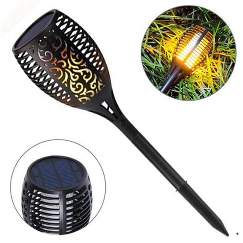 Solar Powered Flickering Torche Light 96 LED Solar Light Sensor Flame LED Light Waterproof Landscape LED Garden Lawn Lamp