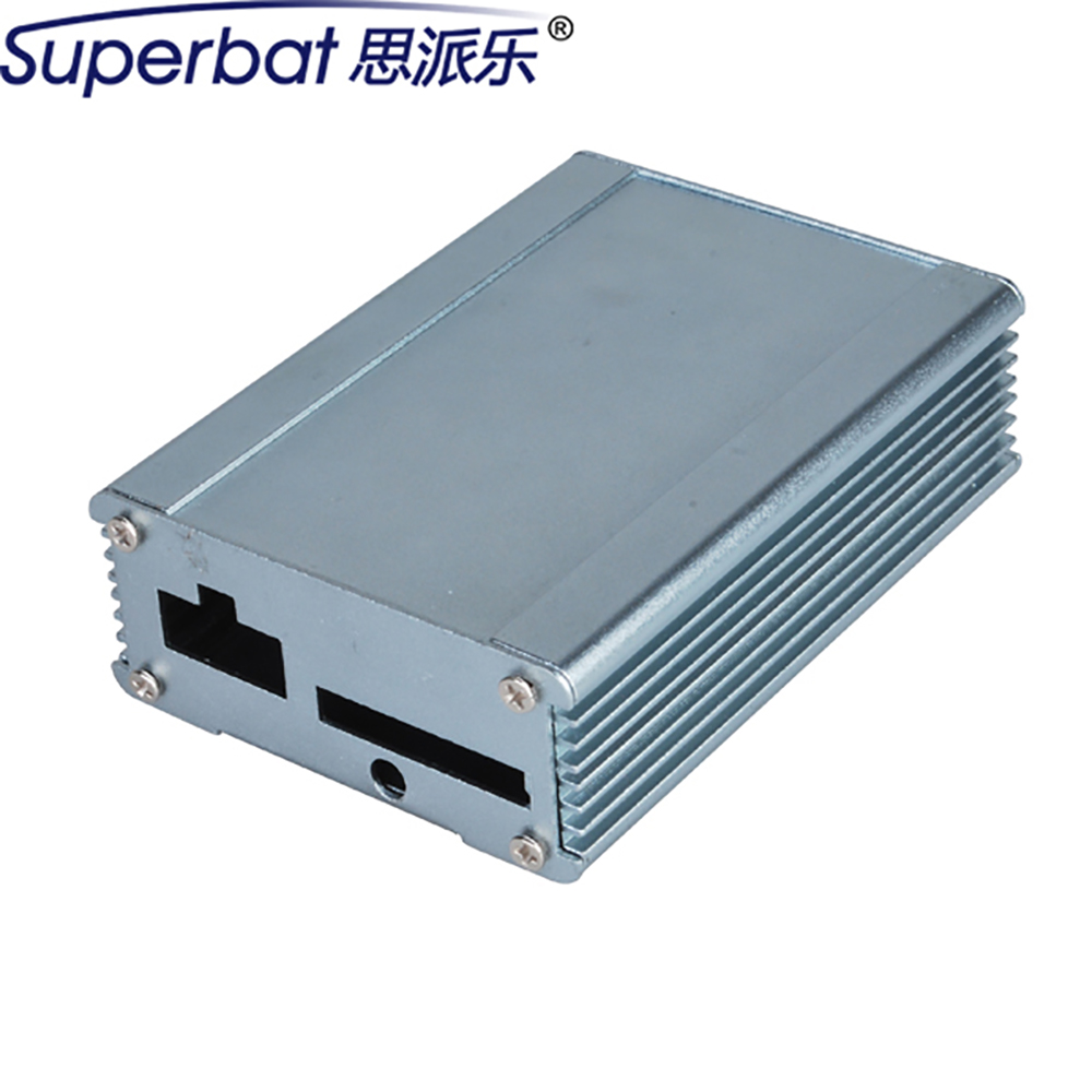 80*61*26mm Extruded Electronic Project Silver Anodized Aluminum Box Instrument Enclosure Power Amplifier Case 3.14″*2.39″*1.02″
