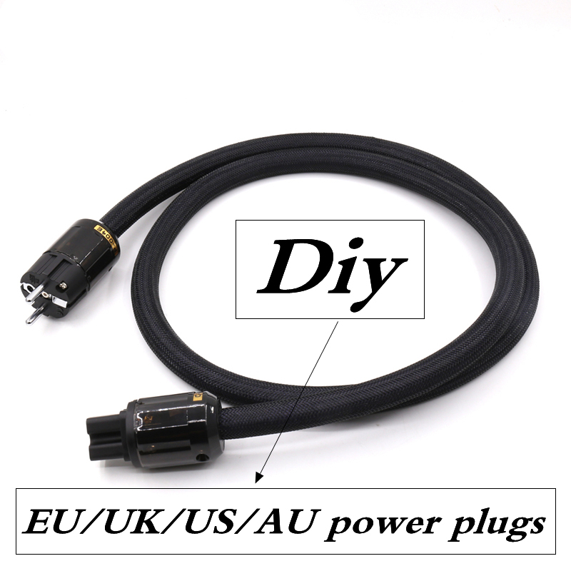 EU/US/AU/UK power plugs P-004E P-079E P-037 P-029 P-046 HIFI Audio Power Cable Cord for audiophile amplifier CD Player