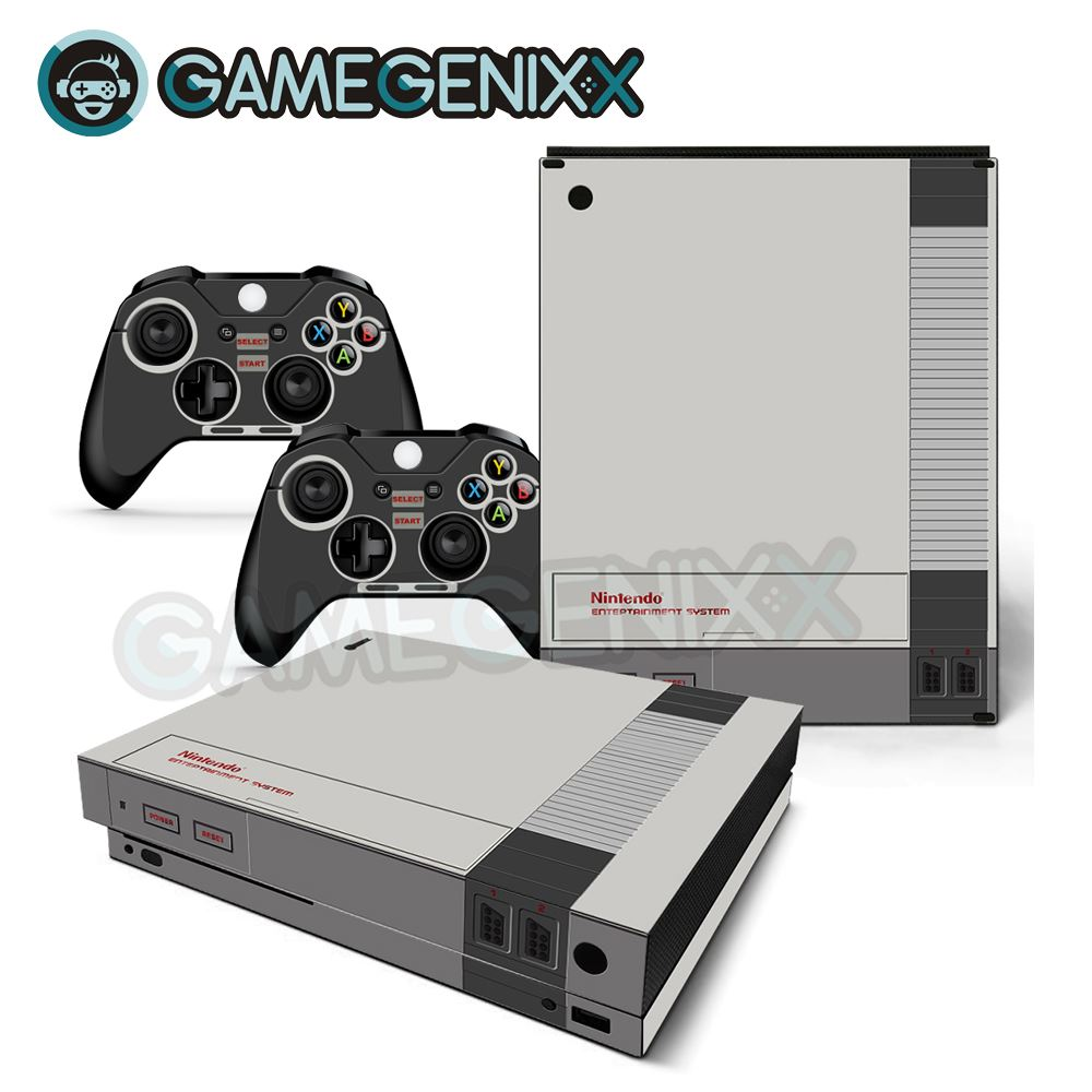 Decal Xbox Retro One-X-Console Skin-Sticker Vinyl 2-Controllers-Nes GAMEGENIXX for And