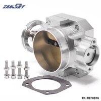 PIVOT Aluminum Silver 70MM Throttle Body For Honda Civic Acura Integra B16 B18 EK EG Intake
