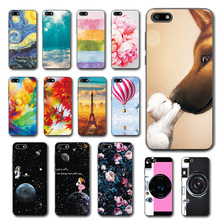 Cute Art Cases Coque For Huawei Honor 7A 5.45' Flower Soft S