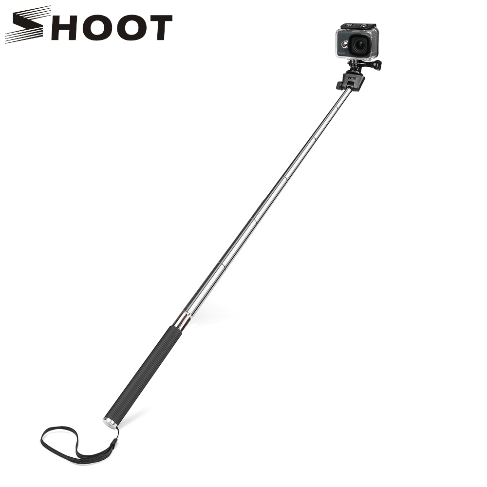 SHOOT For GoPro Hero 8 7 5 Black Selfie Stick Monopod For Go Pro Hero 8 5 7 Black Dji Osmo Sjcam Xiaomi Yi 4K Eken H9 Accessory