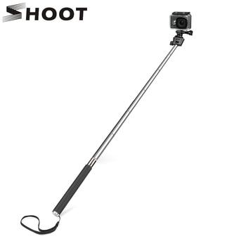 цена на SHOOT for GoPro Hero 8 7 5 Black Selfie Stick Monopod for Go Pro Hero 8 5 7 Black Dji Osmo Sjcam Xiaomi Yi 4K Eken H9 Accessory