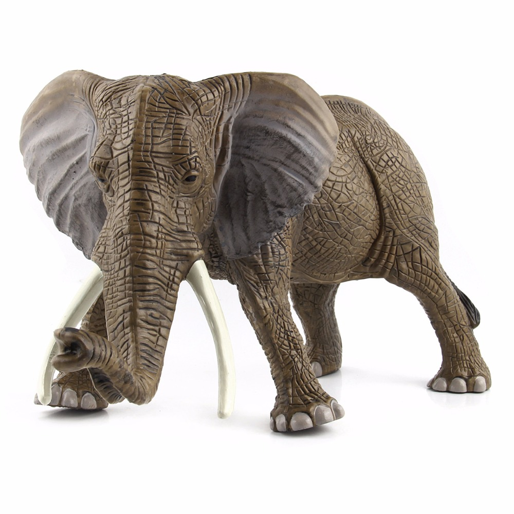 Big Size Elephant 31*16 cm Wild Animal Model Toy Simulated Action Figures Toys Collection Gift Toys For Children lps pet shop toys rare black little cat blue eyes animal models patrulla canina action figures kids toys gift cat free shipping