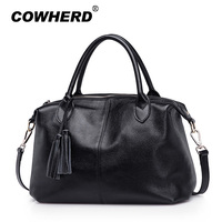 Bags Handbags Women Famous Brands Soft Genuine Cow Leather Tassel Tote Bag Lady Casual Messenger Hobo