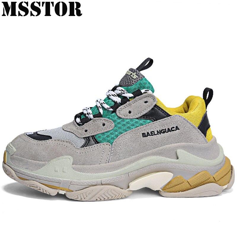 MSSTOR Rétro Femmes Hommes Chaussures de Course Femme Marque D'été Respirant Sport Chaussures Pour Hommes Amateurs de Plein Air de Sport Femmes Sneakers