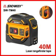 Sndway medidor de distância a laser fita multi função auto-travamento dispositivo de ferramenta de mão SW-TM40 SW-TM60
