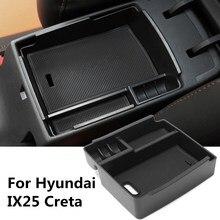 Черный Автомобиль Центральной Консоли Подлокотник Ящик Для Хранения Кубок Телефон Лоток Для Hyundai IX25 Creta
