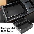 Caixa de Armazenamento Do Console Apoio de Braço Central Do Carro preto Copo Bandeja Telefone Para Hyundai IX25 Creta