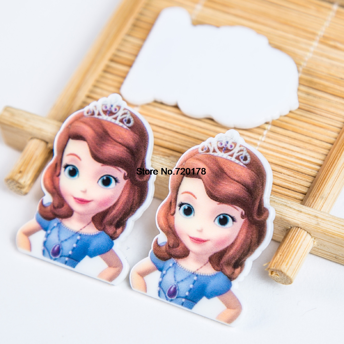 Flatback Printed Resin Cartoon Character Planar Resin For DIY Craft 1.2inch RET1260F