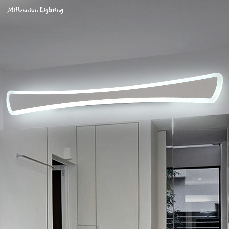 Bathroom LED mirror front light, stainless steel make-up/dresser light,  Modern simple Acrylic wall hanging lamp 40cm12WAC90-260V - Popular Wall Mounted Dresser-Buy Cheap Wall Mounted Dresser Lots