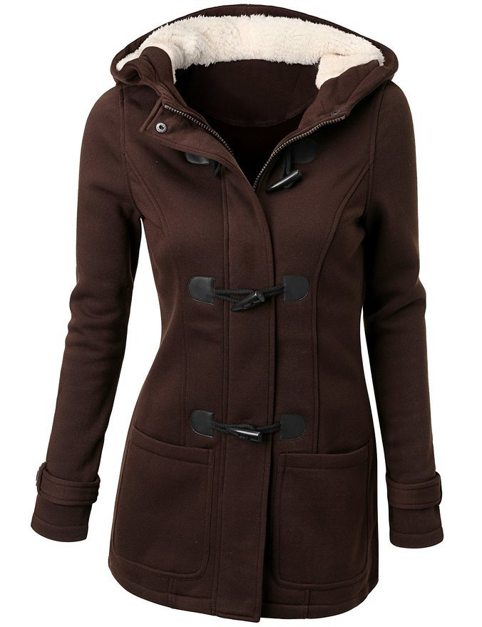 Women Trench Coat 2016 Spring Autumn Women's Overcoat Female Long Hooded Coat Zipper Horn Button Outwear 1